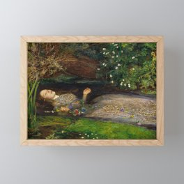 Ophelia, John Everett Millais Framed Mini Art Print
