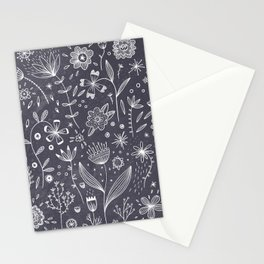 Chalkboard Flowers Stationery Cards