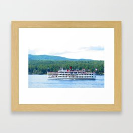 Lake George Cruise Framed Art Print