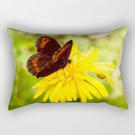 Balancing on flower Rectangular Pillow