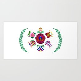 Hungarian traditional folk flowers Art Print