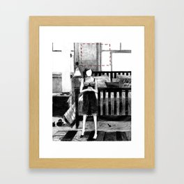 Dolly, Hands Folded Framed Art Print