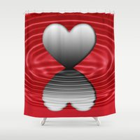 valentine Shower Curtains featuring Valentine by Kathleen Stephens