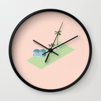 clover Wall Clocks featuring Clover by jaxsun