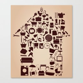 House from subjects Canvas Print