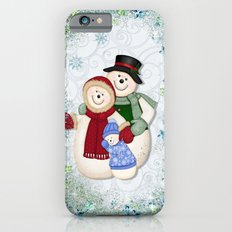 Snowman and Family Glittered iPhone 6s Slim Case