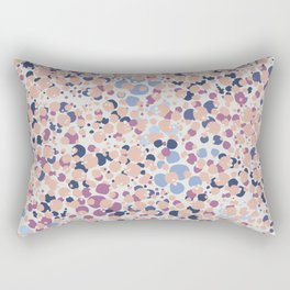 MOTAS - Spots, Dot, Coral, Pink, Blue Dots, Animal Print Rectangular Pillow