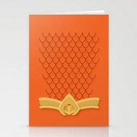 aquaman Stationery Cards featuring I Am Aquaman by Alex Boatman