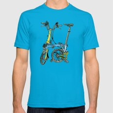 My brompton standing up Mens Fitted Tee Teal X-LARGE