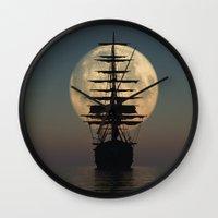ship Wall Clocks featuring Ship by samedia