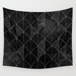 Mermaid scales in black and white. Wall Tapestry