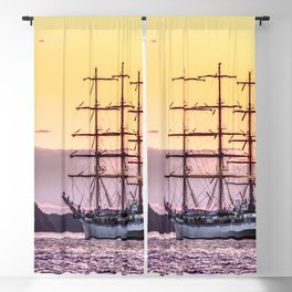 Frigate at sunset Blackout Curtain