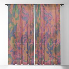 Color Theory Sheer Curtain