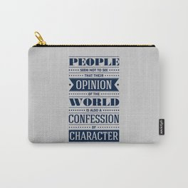 Lab No. 4 People Seem Not to Ralph Waldo Emerson Inspirational Quote Carry-All Pouch