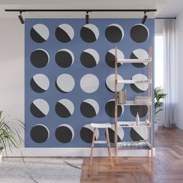 Moon Phased in Blue Wall Mural