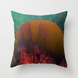 Fantastic Planet / Urban Fantasy Throw Pillow