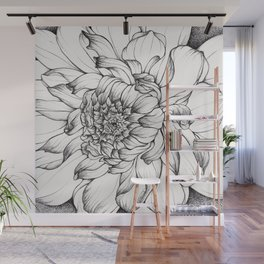 Dahlia in Full Bloom Wall Mural