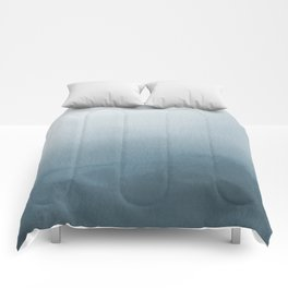 Behr Blueprint Blue S470-5 Abstract Watercolor Ombre Blend - Gradient Comforters