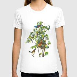 Blue Grosbeak James Audubon Vintage Scientific Illustration American Birds T-shirt