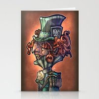 mad hatter Stationery Cards featuring Mad Hatter by Tim Shumate