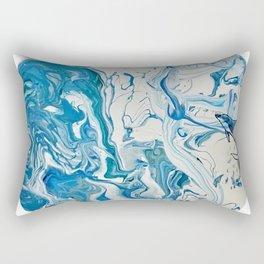 Blue Dolphin Planet Rectangular Pillow