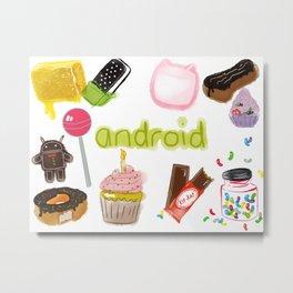 Android Metal Print