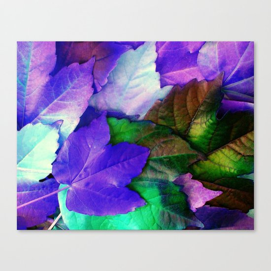 The Purple Leaves of Autumn Canvas Print