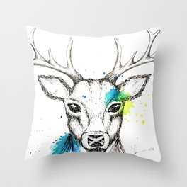 Stag II Throw Pillow
