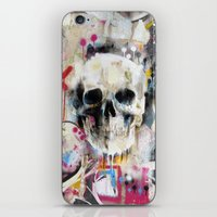 skull iPhone & iPod Skins featuring Skull by FAMOUS WHEN DEAD