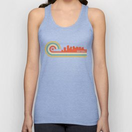 Retro Scottsdale Arizona Skyline Unisex Tank Top