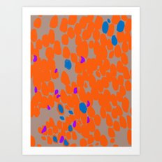 Orange Dot Art Print