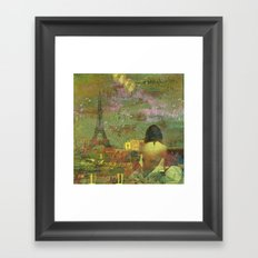 On the roofs of Paris Framed Art Print