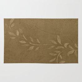 Sepia Vine Vintage Floral - Rustic - Hygge - Modern - Vintage - Farmhouse Rug