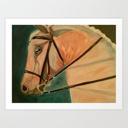 Horse head art Art Print