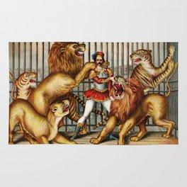 The Lion Tamer 1873 Vintage Circus Rug