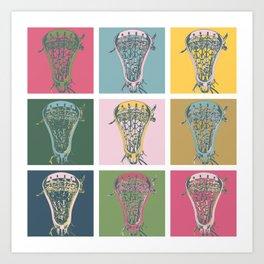 Lacrosse Marylin Blue Art Print