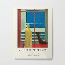 Poster-Vilhelm Petersen-Figur ved vinduet. Metal Print