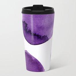 Ultra Violet Boulders Abstract Art Travel Mug