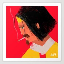 Smokin' Macho Art Print
