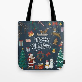 Merry Christmas Artwork Tote Bag