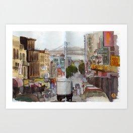 China Town, San Francisco  Art Print