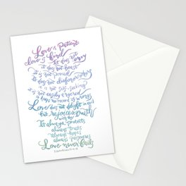 Love is patient, Love is Kind-1 Corinthians 13:4-8 Stationery Cards