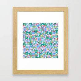 Shapes of Hackney - four sides Framed Art Print