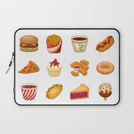 Pixel Junk Food Laptop Sleeve