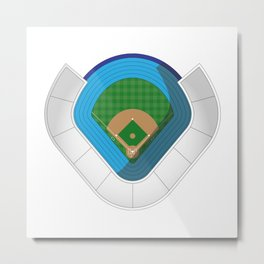 Baseball Stadium Metal Print