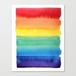 LGBT Flag, Gay Pride, Gay Rainbow, Rainbow, LGBT Rainbow, Watercolor, Watercolor Painting, Canvas Print