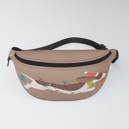 Christmas Dachshund Fanny Pack