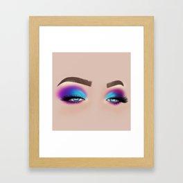 Colourful Eyeshadow Make-Up Look Framed Art Print