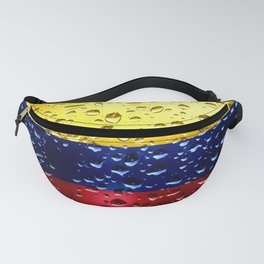 Flag of Columbia - Raindrops Fanny Pack