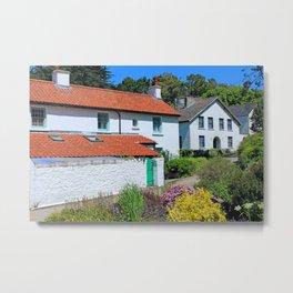 Caldey Island Village.Wales. Metal Print